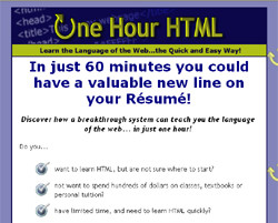 New: One Hour Html