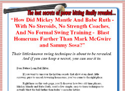 Babe Ruth's Power Home Run Secrets and Mickey Mantle's How I Hit