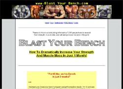 Blast Your Bench Chest Workout Program