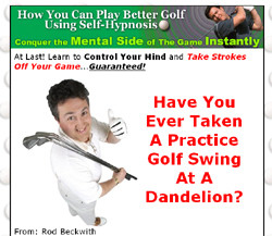 How You Can Play Better Golf Using Self-Hypnosis