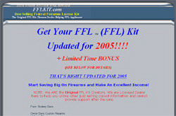 Get Your Federal Firearms License 2004