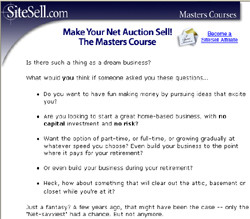 Make Your Net Auction Sell!, The Masters Course