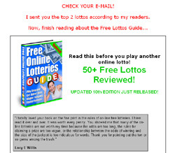 Free Online Lotteries Guide