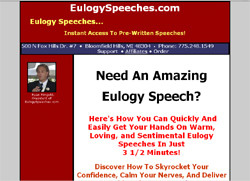 Eulogy Speeches: �Instant Access To Pre-Written Speeches!