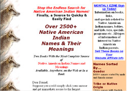 2500+Native American Indian Names & Their Meanings
