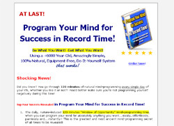 Program Your Mind for Success in Record Time!