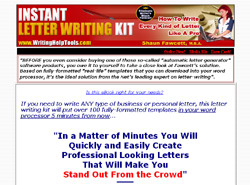 Instant Letter Writing Kit