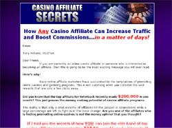 Casino Affiliate Secrets