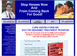 Stop Herpes Now, and From Coming Back for Good!