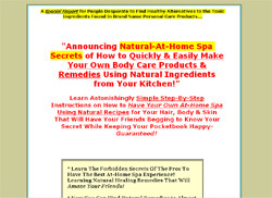 Natural Home Spa & Herbal Remedies for Hair, Body & Skin